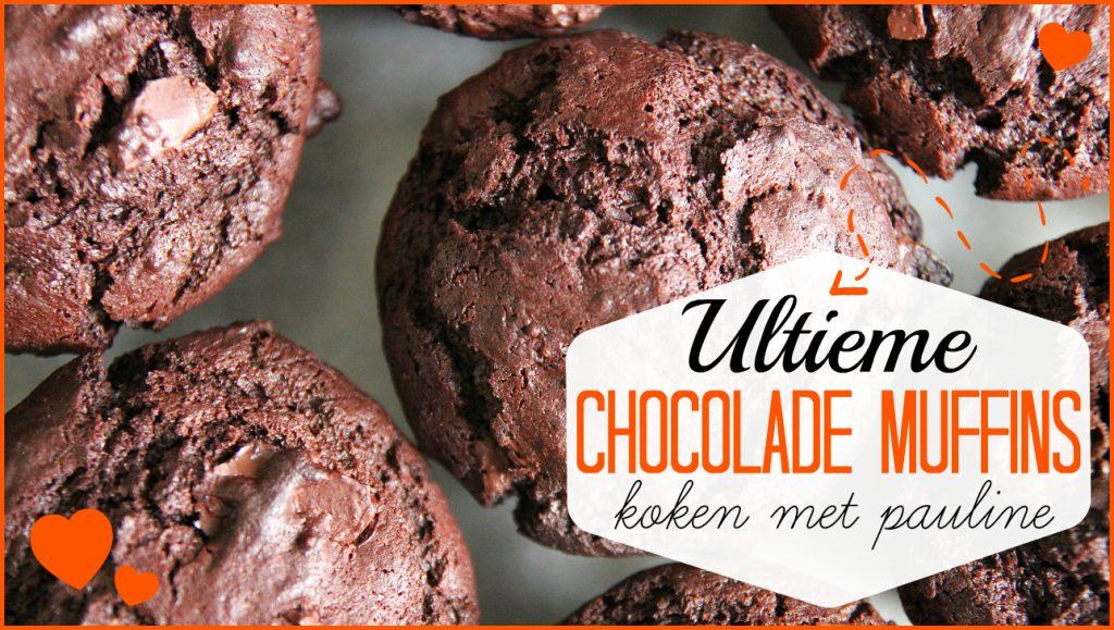 Ultieme Dubbele chocolade muffins